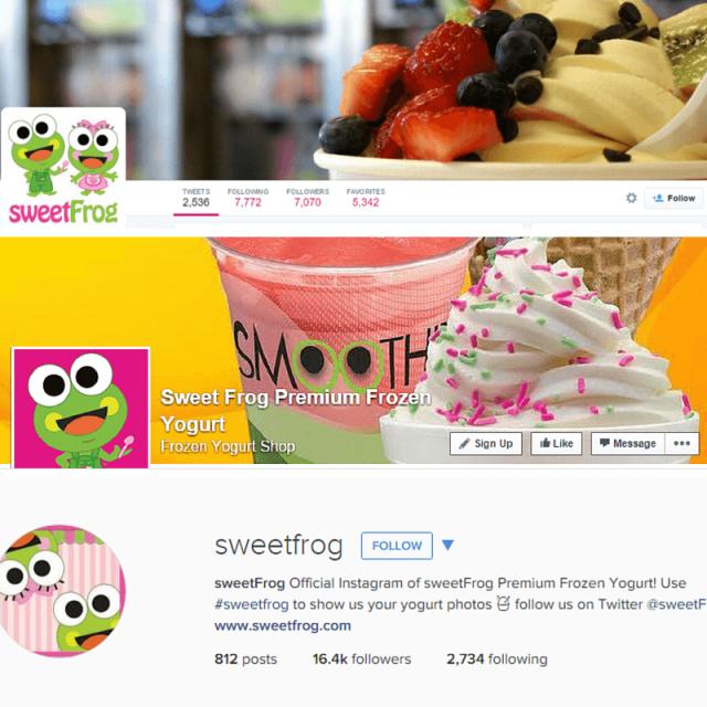 Sweet Frog Social Media Branding