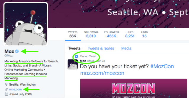 moz optimized twitter example