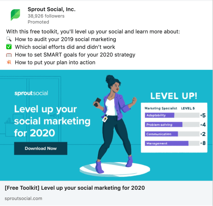sprout paid ad example
