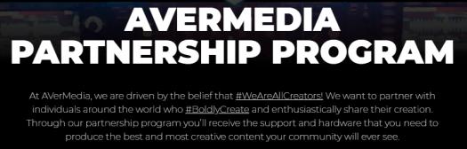avermedia hashtags partnership program