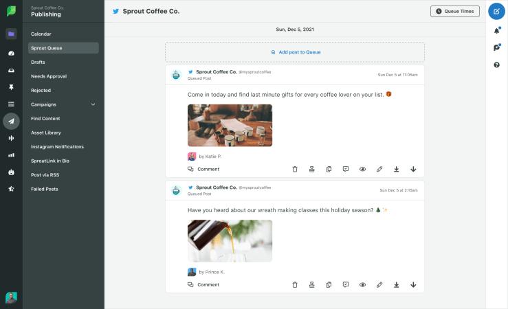 Sprout Social Queue