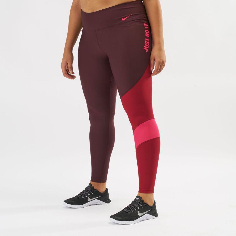 new product 84389 d51d8 Red Nike Power Training Leggings Plus Size Full Length