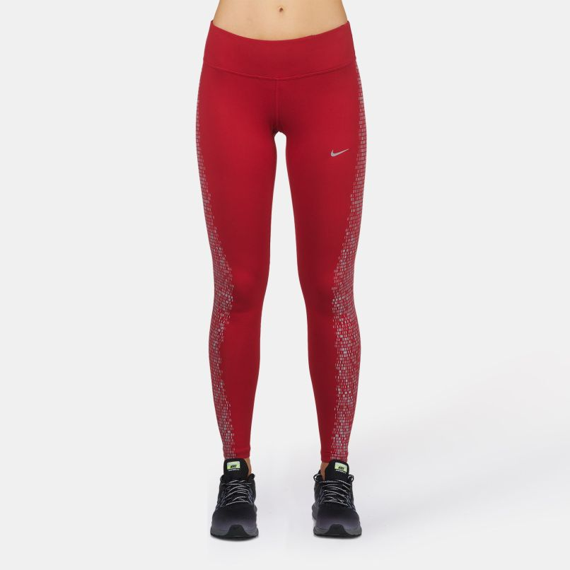 finest selection dcfe6 7b583 Red Nike Power Flash Epic Running Leggings For Womens By Sss