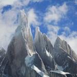 Vandring vid berget El Chalten. Los Glaciares National Park. (U)