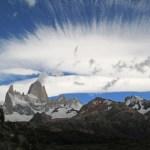 Moln över berget El Chalten (U)