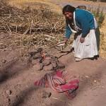 Aymarabyn Kusijata. Titicacasjön