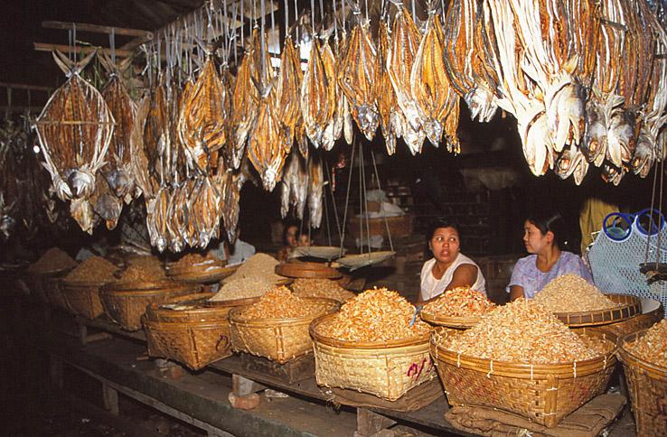 Fiskmarknad. Sittwe