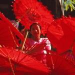 Paraplyförsäljare. Pathein