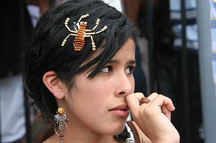 Kvinna med spindel. Escazu