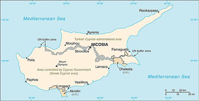 karta cypern cypern landsfakta, folkmängd, folkgrupper, bnp, flagga, karta  karta cypern
