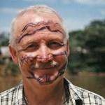 Målad av kiwuchas. Amazonas