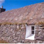 Traditionellt hus. Calanais, Lewis