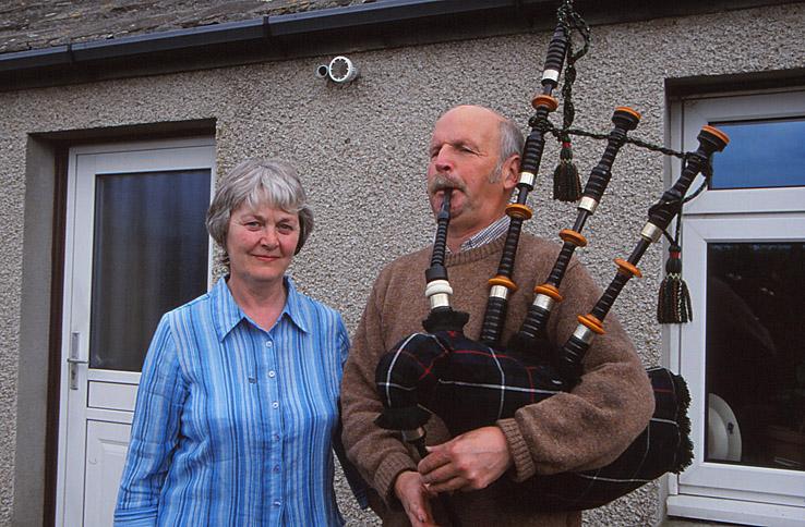 Herbert och Ingrid MacKenzie. St Margrets Hope