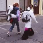 På väg till skolan. Stromness