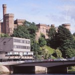 Vy över borgen. Inverness