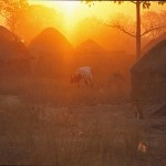 Morgon i byn Auchubunyor
