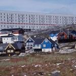 Vy från huvudstaden Nuuk