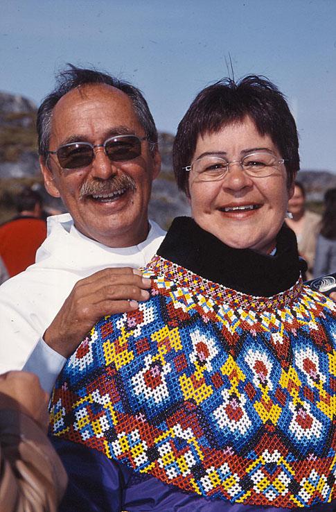 Grönländskt par. Nuuk