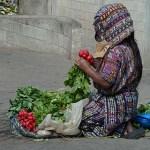 Kvinna med rädisor. Panajachel
