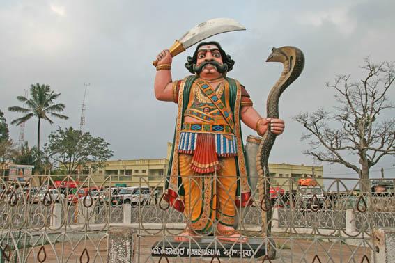 Religiös staty. Mysore