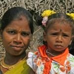 Mor och dotter. Thanjavur