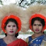 Danserskor på Pongalfestivalen. Thanjavur