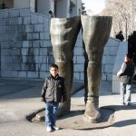 Rester av shahstaty. Teheran