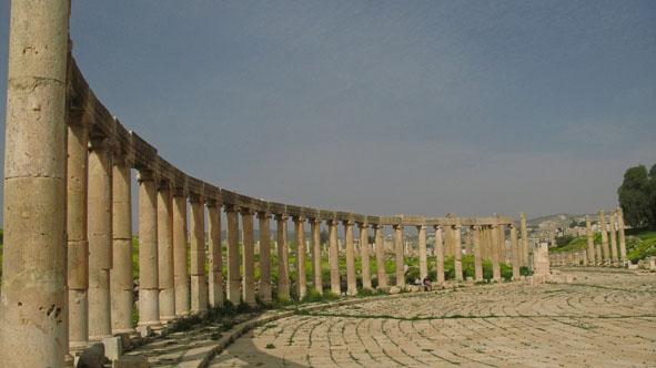 Ovala torget. Jerash