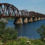 Gamla järnvägsbron. Fredericton