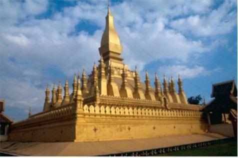 Templet Pha That Luang. Vietiane