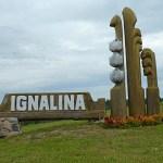 Stadsskylt. Ignalina