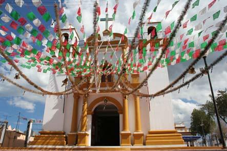 Kyrkan Guadeloupe. San Cristóbal de las Casas