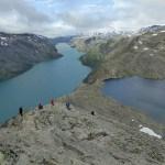 På väg ned för Besseggen. Jotunheimen Nasjonalpark