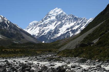 Mount Cook, Nya Zeelands högsta berg. Mount Cook Nat. Park