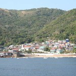 Vy över ön Taboga