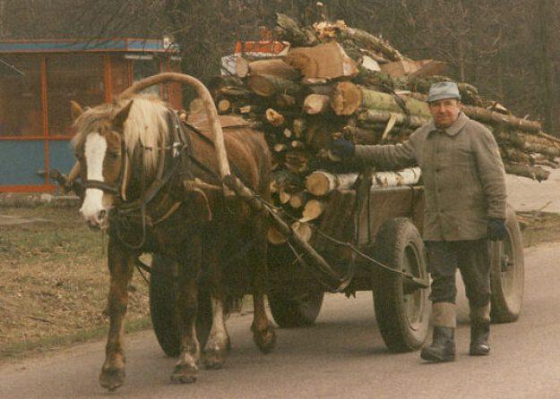 Invånare i byn Bialowiesza