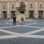 Piazza del Campidoglio och Palazzo Nuevo. Capitolium (U)