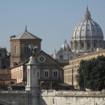 Peterskyrkans kupol. Vatikanen (U)