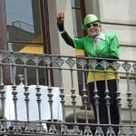 Kvinna i grön kavaj. Barcelona