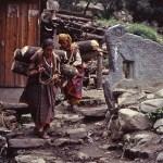 Kvinnor med ved. Old Manali