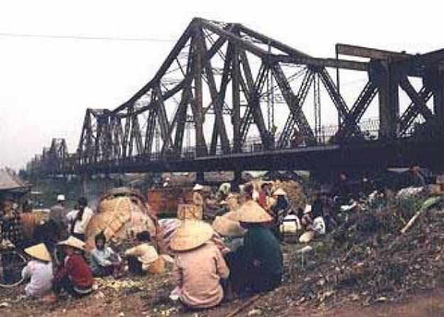 Long Bien-bron. Hanoi
