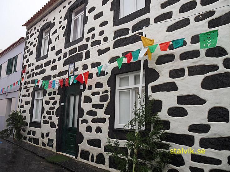 Hus byggt av lavasten. Ribeira Grande