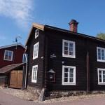 Trähus i Gamla Herrgården. Falun. Sverige