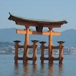 Shintotemplet Itsukushima. Ön Miyajima. Japan (U)