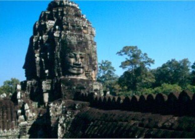 Bayon-templet. Angkor Vat. Kambodja