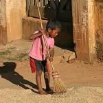Ung jordbruksarbetare