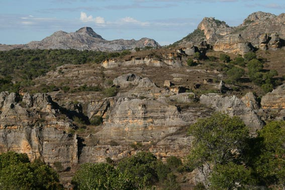 Vy från Isalo National Park