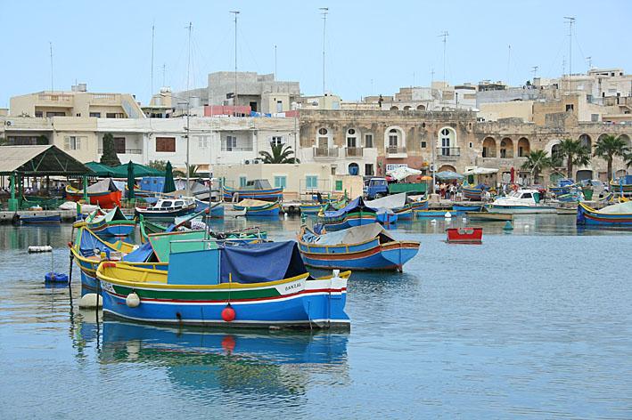 Hamnen. Marsaxlokk