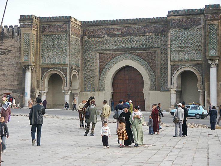 Del av stadsmuren. Meknes (U)