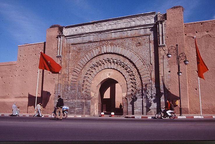 Porten Bab Aganou. Marrakech. Marocko (U)